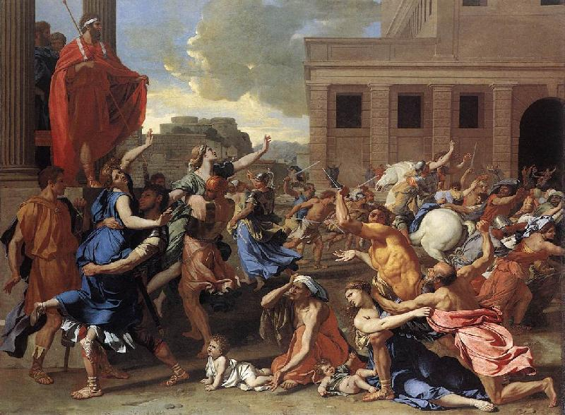 Nicolas Poussin The Rape of the Sabine Women oil painting image